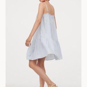 Striped Dress Coverup Blue White NWT H&M Sundress
